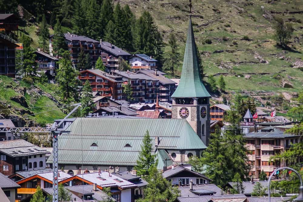 the village of Zermatt, Switzerland