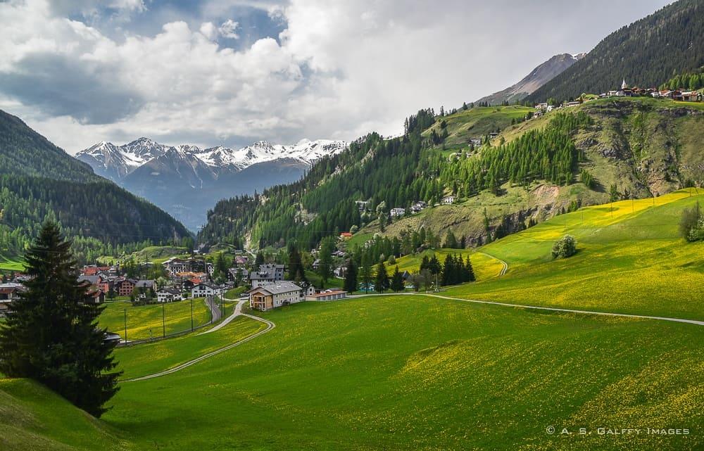route from Zermatt to St. Moritz