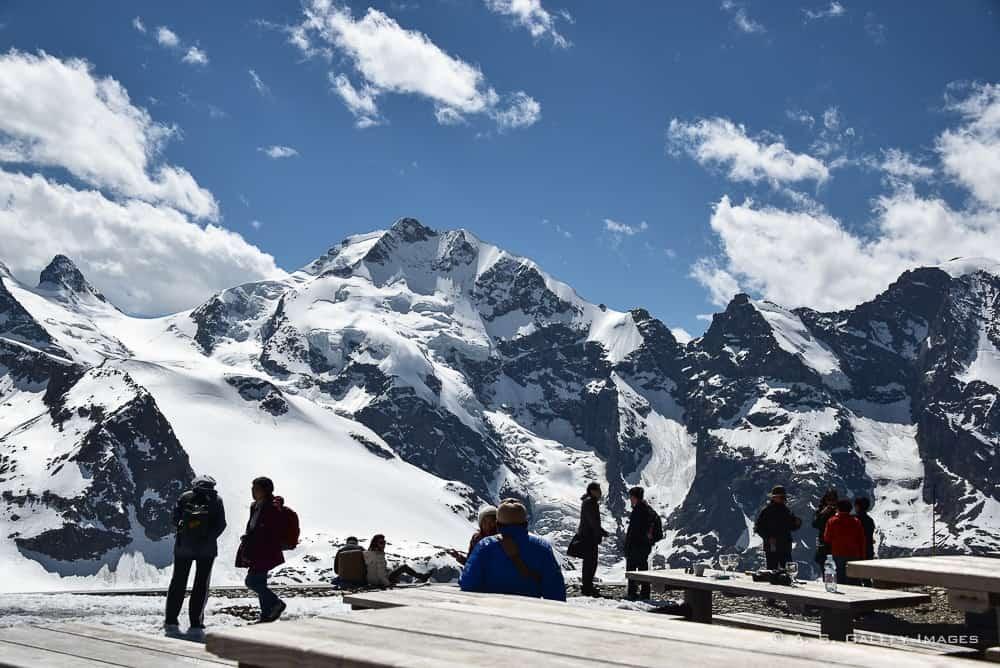 View of the Diavolezza mountain peak