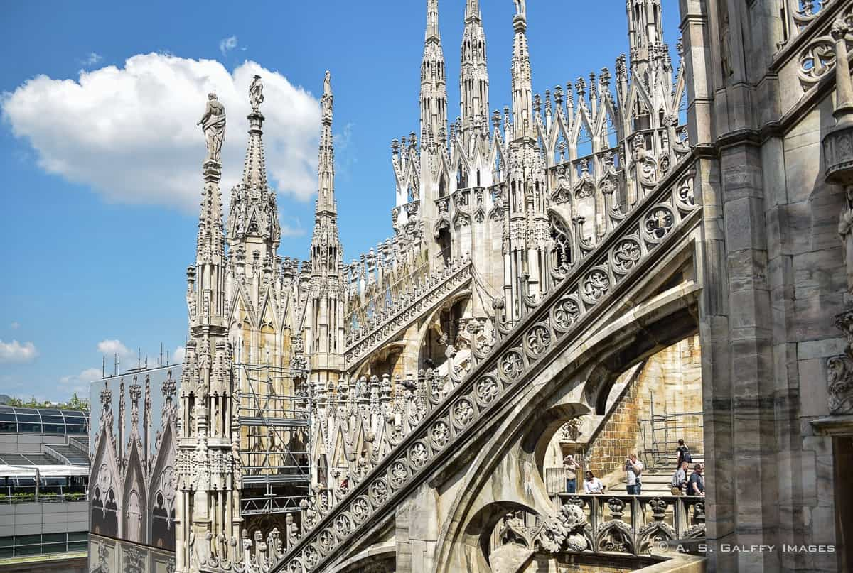 View from the roof of the Duomo of Milan