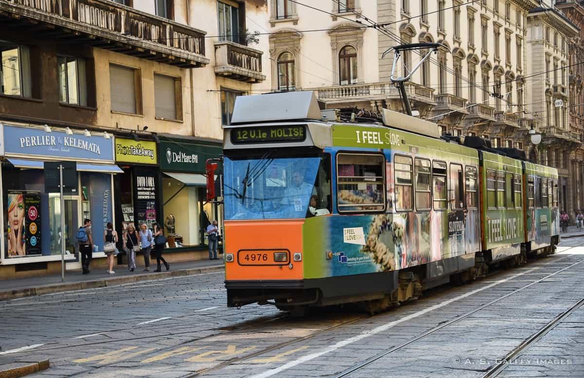 Tram in Milan - One day in Milan