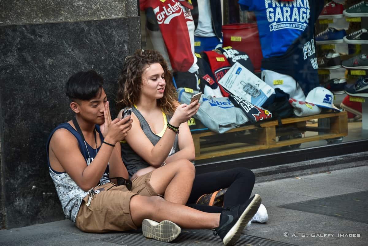 Watching people in Milan