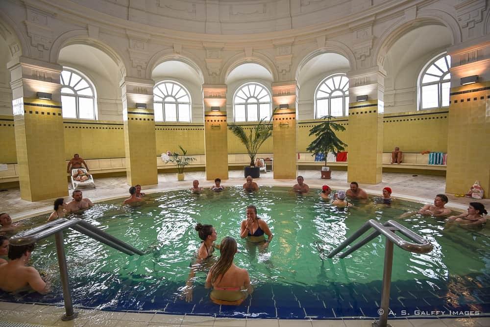 Inside pool at the Szecheni Baths