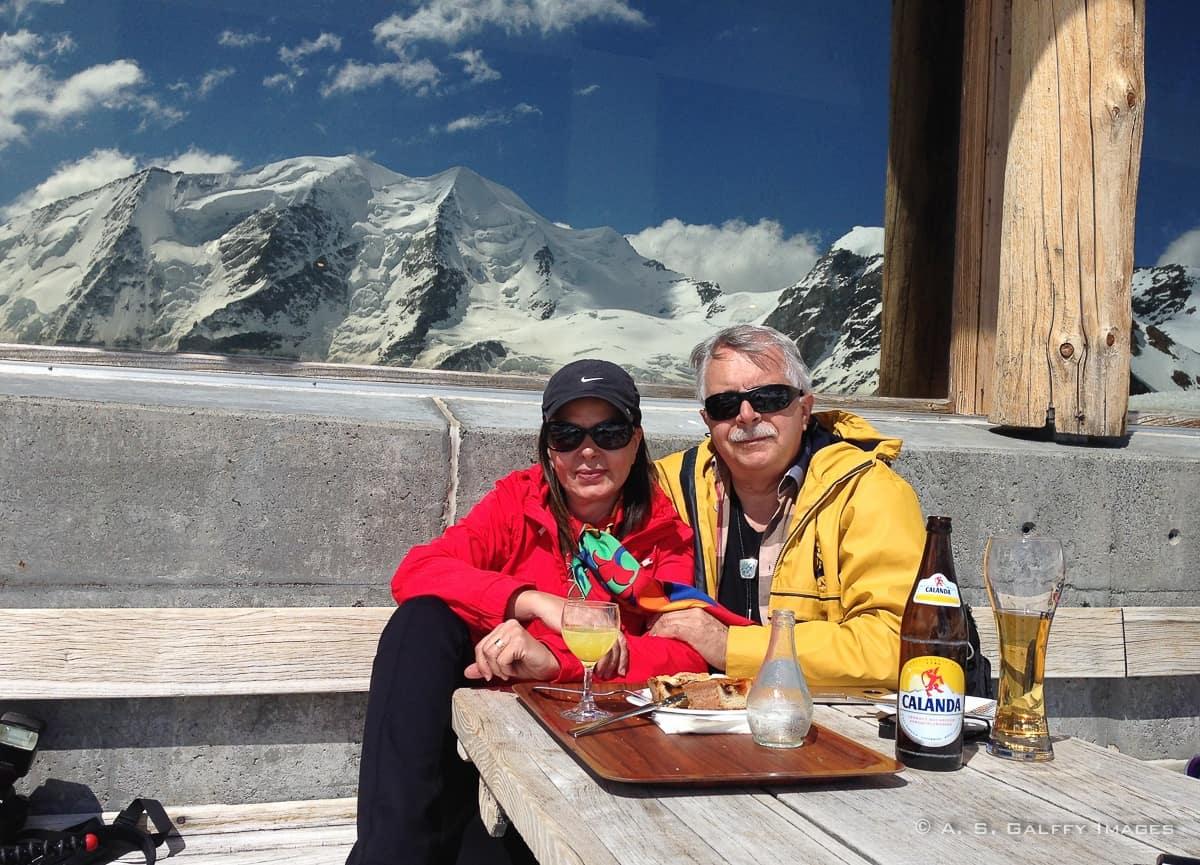having lunch atop the Divolezza peak