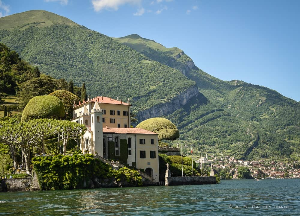Villa Balbianello seen from the lake