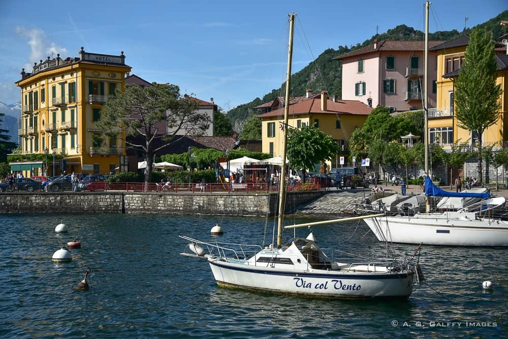 Boats near the town of Varenna
