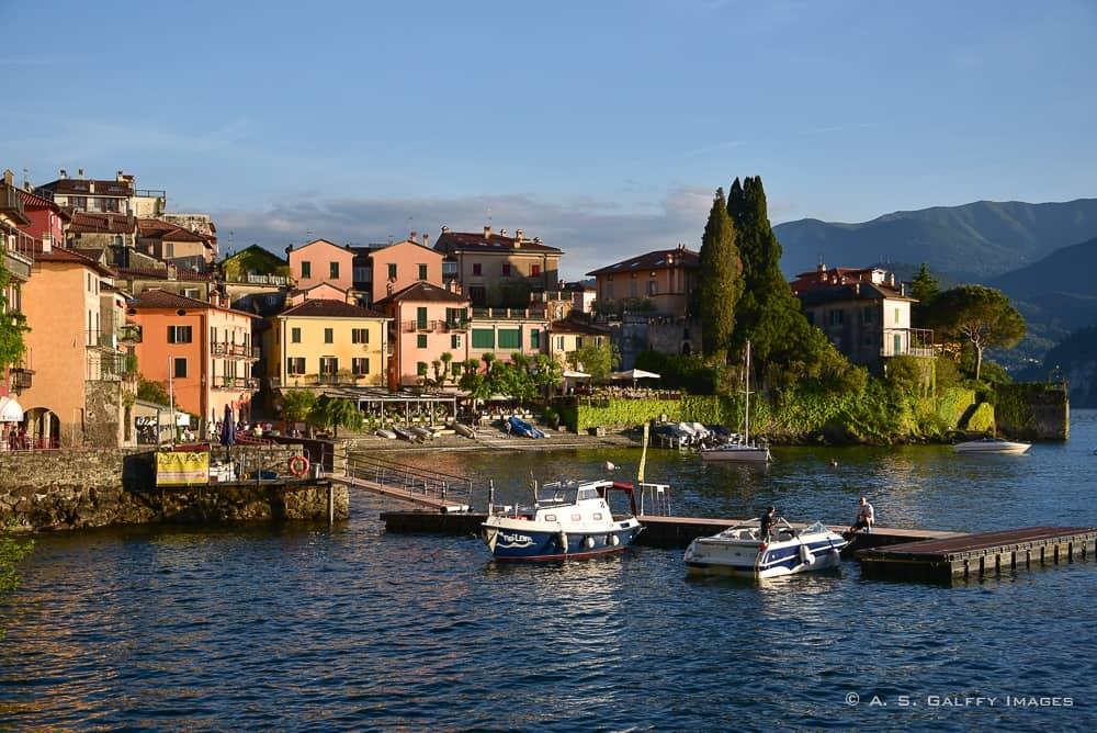 The town of Varenna near Lake Como