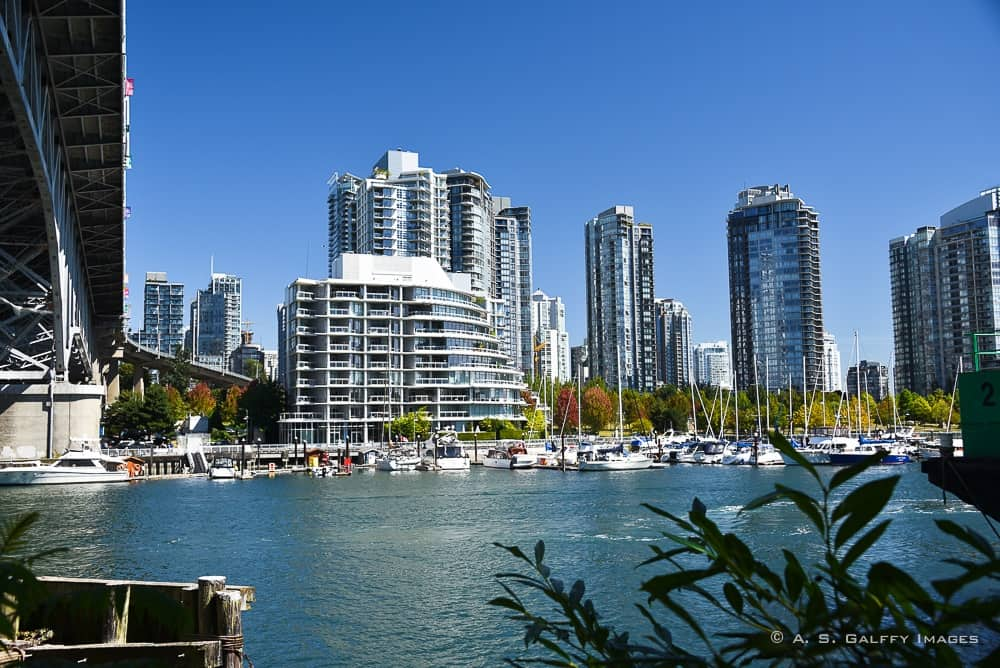 the cityscape, a great Vancouver first impression