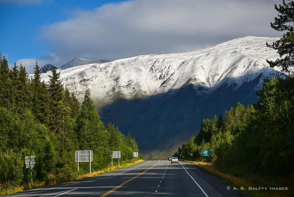Driving the Parks Highway from Anchorage to Denali