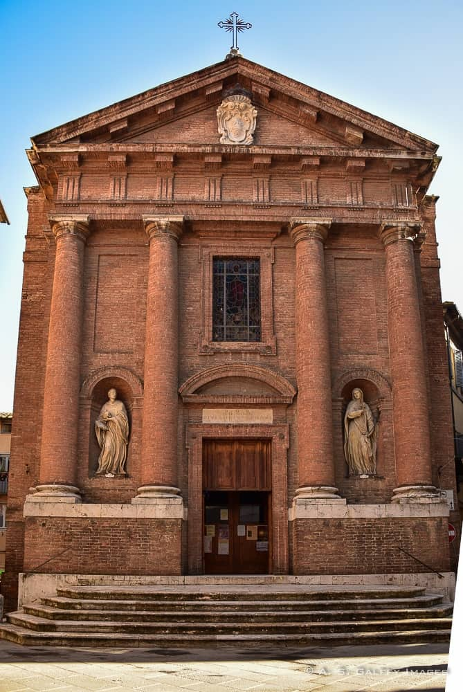 The church of San Cristofor in Siena