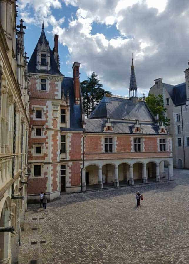 Interior courtyard of Blois Castle in the Loire Valley