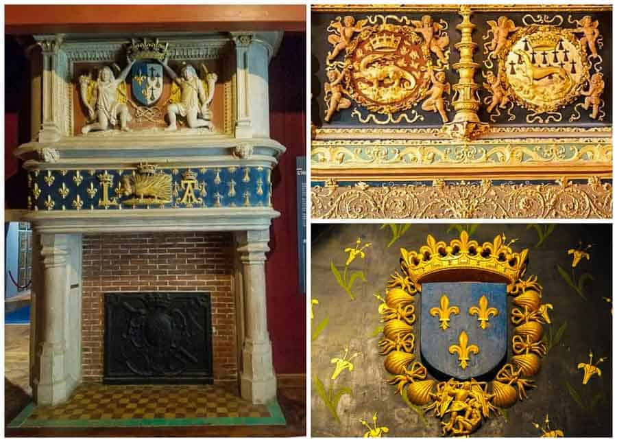 Different symbols at Chateau de Blois