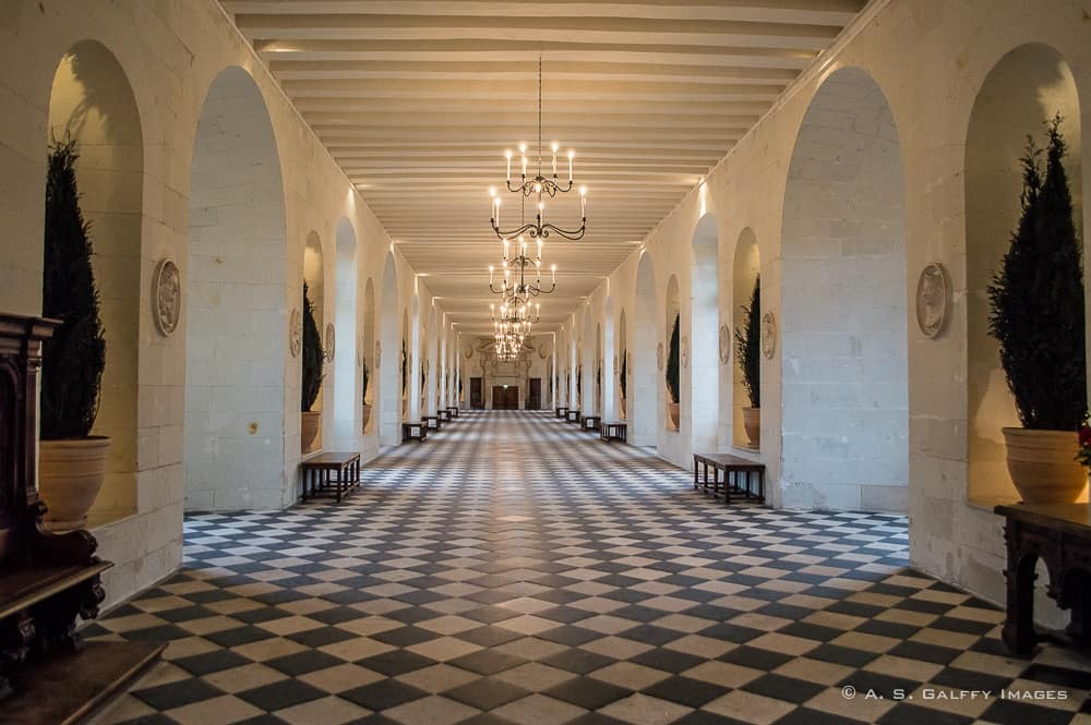 Gallery at Château de Chenonceau