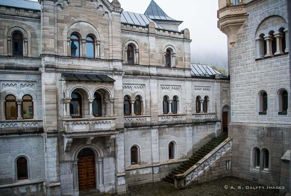 Neuschwanstein Castle interior courtyard