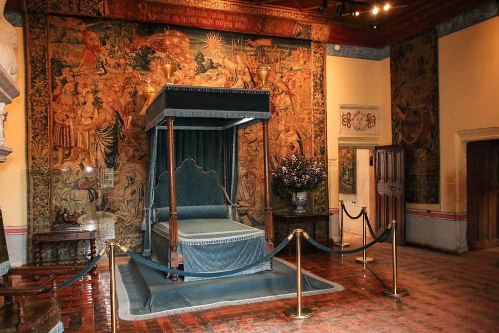 Diane de Poitier bedchamber at Château de Chenonceau