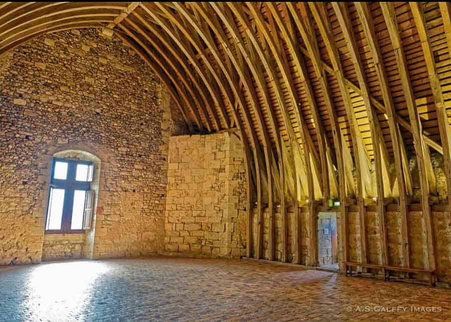 Barrel vaulted ceiling at Chateau de Sully Sur Loire