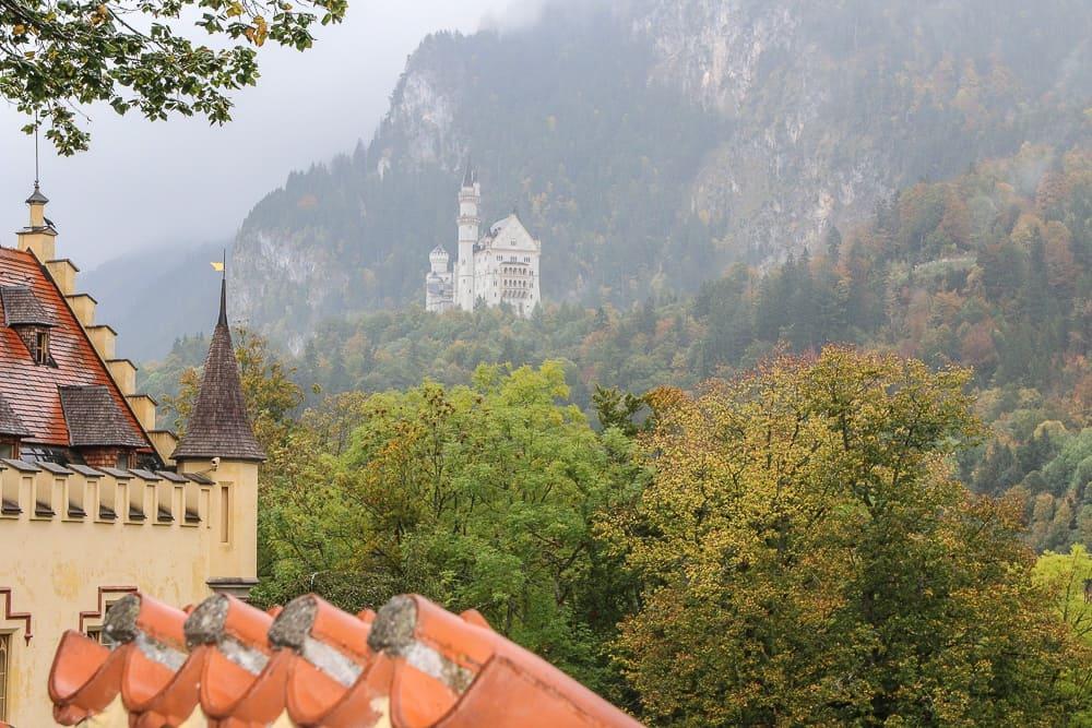 View of the Neuwschwanstein castle from Hohenschwangau