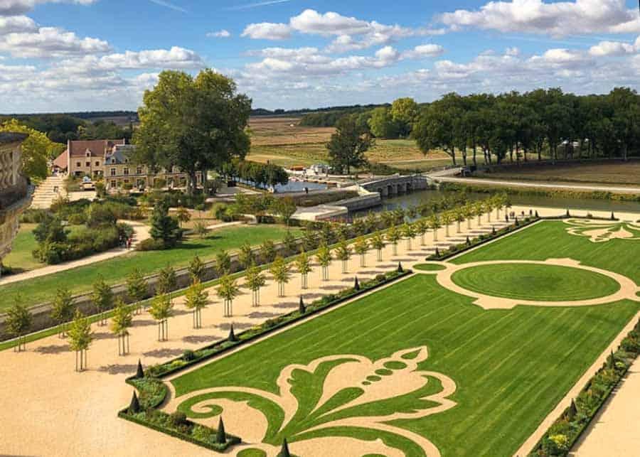 The gardens at Château de Chambord