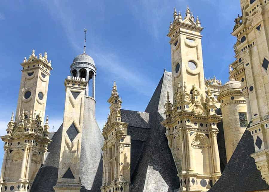 Architectural details at Chateau de Chambord