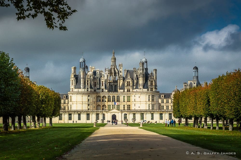 Chateau de Chambord in the Loire Valley, France