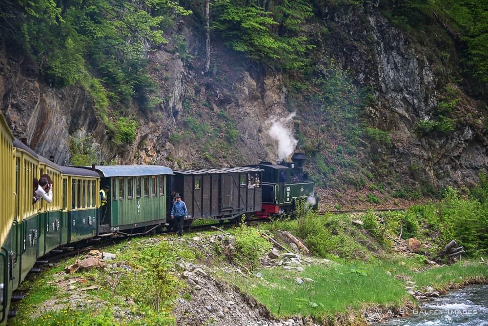 The Mocanita Steam Train