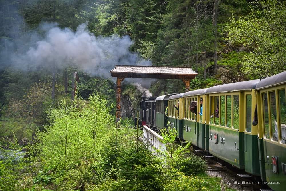 Riding the Mocanita steam train
