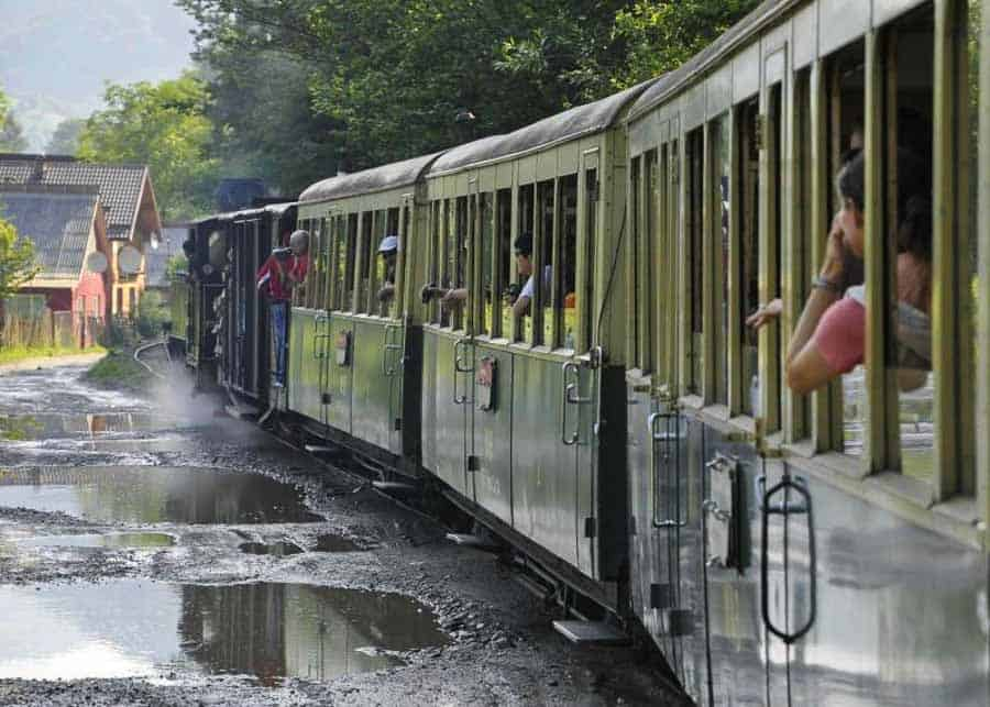 Riding the steam train in Maramures