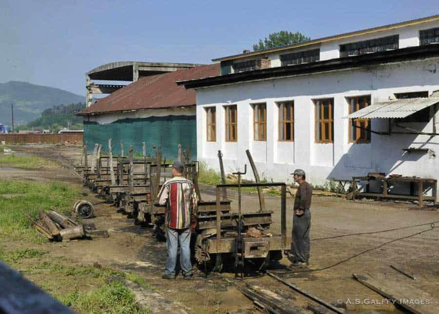 The train depo in Viseul de Sus, Maramures