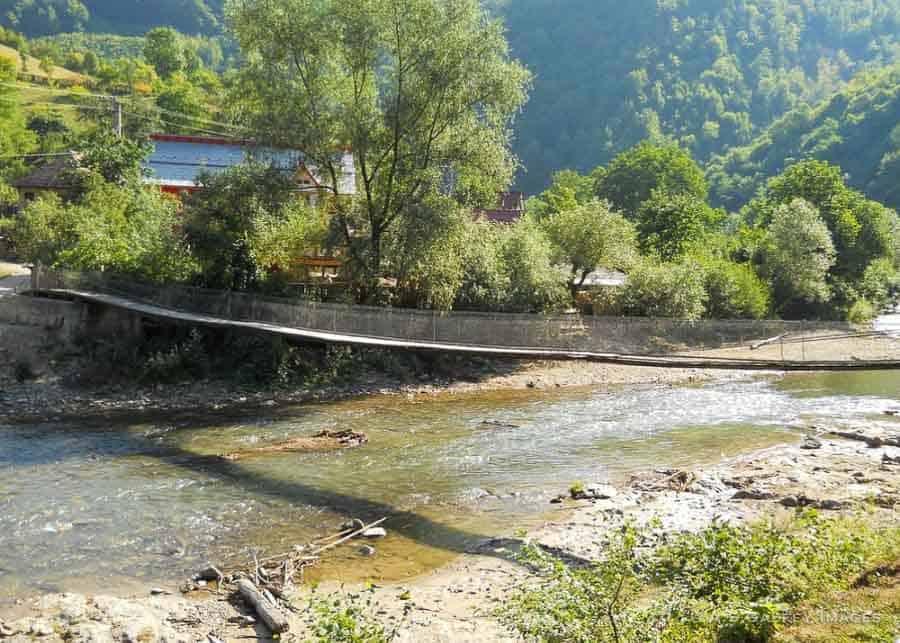 Riding the Mocanita train along the Vaser River
