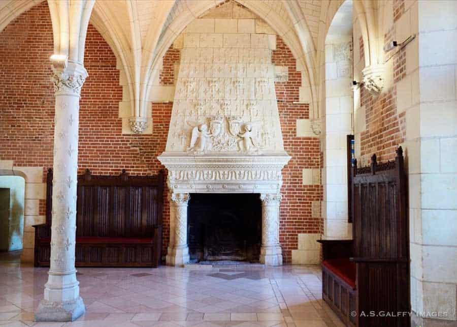 Inside the Chateau d'Amboise