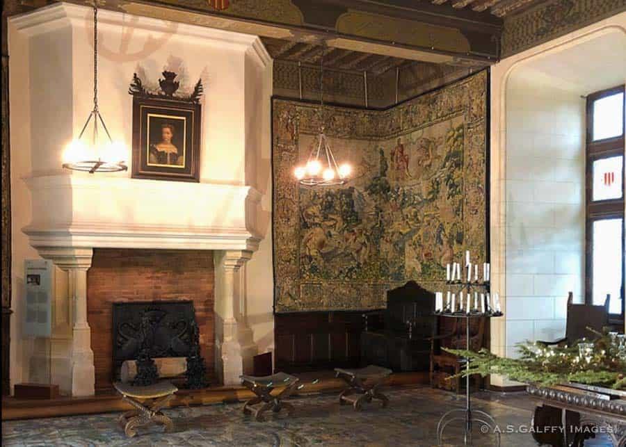 Diane de Poitier's room at Chateau de Chaumont