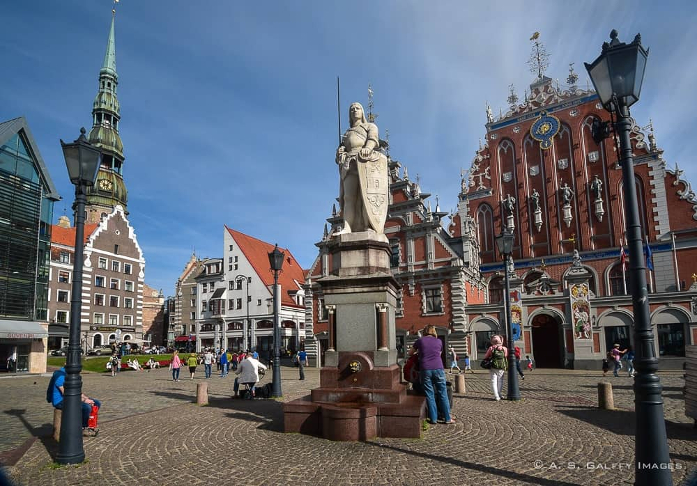 Riga's town Hall Square, a must see in Riga