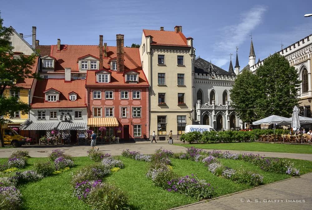Livu Square in Old Town Riga