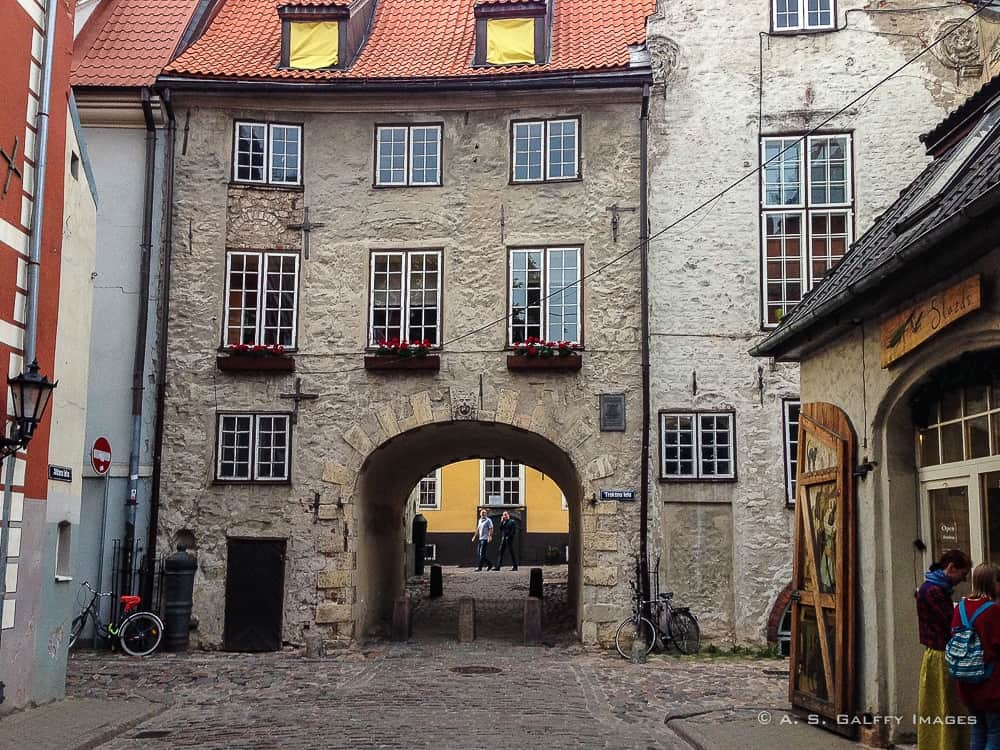 The Swedish Gate in Old Town Riga
