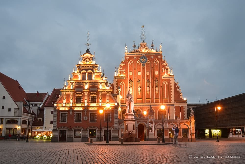 view of the House of Blackheads in the Old Town Riga