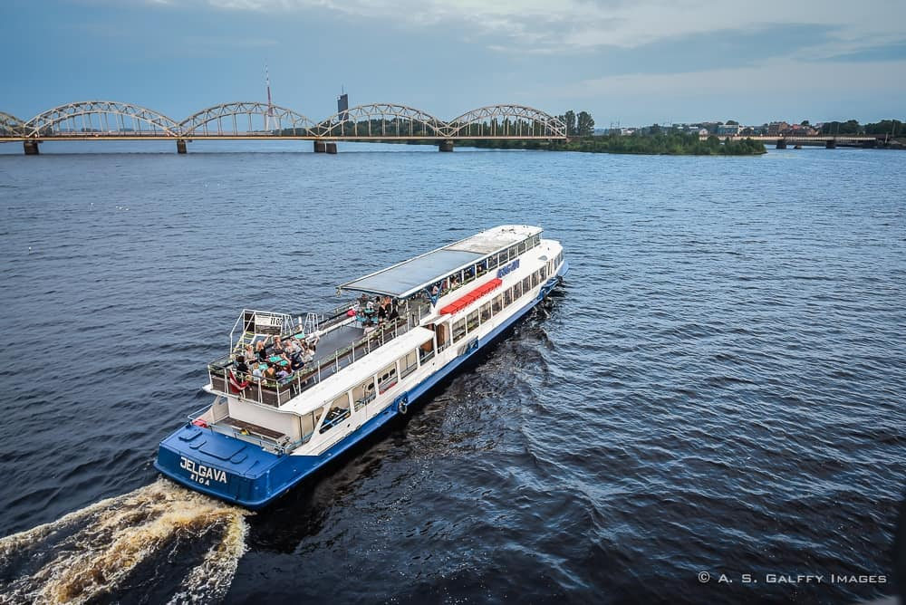 Cruising along the river is one of the Best Things to do in Riga