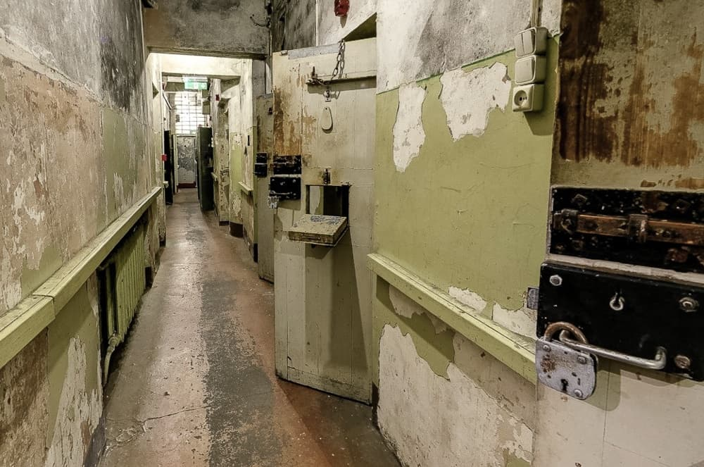 Image depicting the corridor leading to the cells