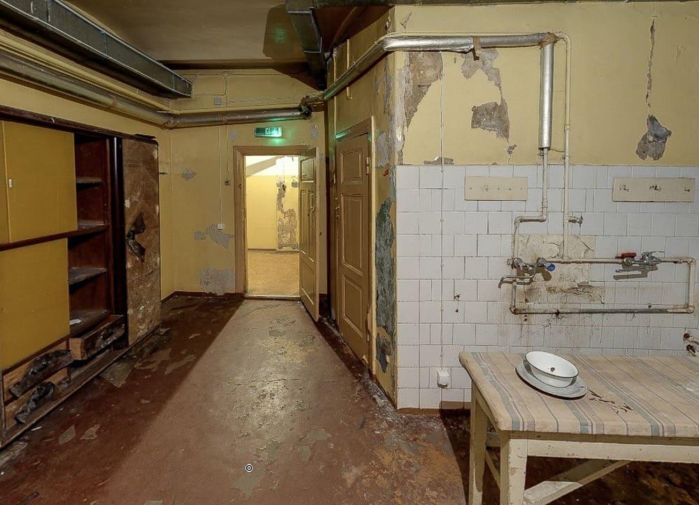 The prison's kitchen