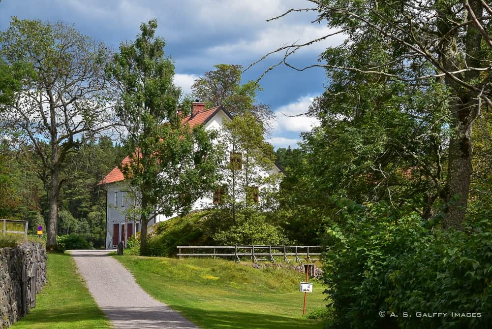 the old distillery building at Nynäs Manor - day trips from Stockholm