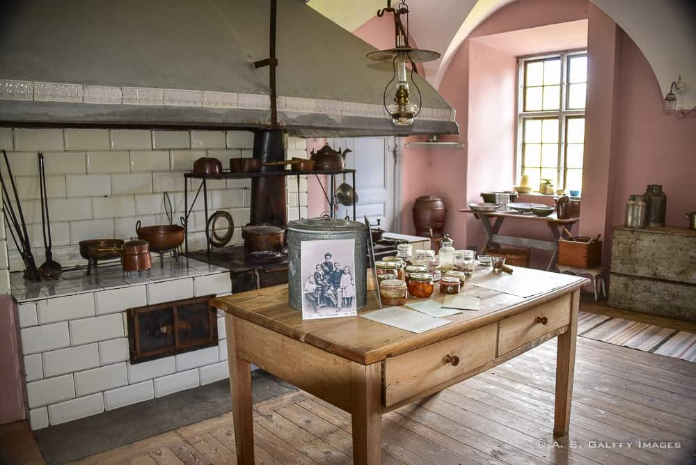 the kitchen at Nynäs Manor - day trips from Stockholm
