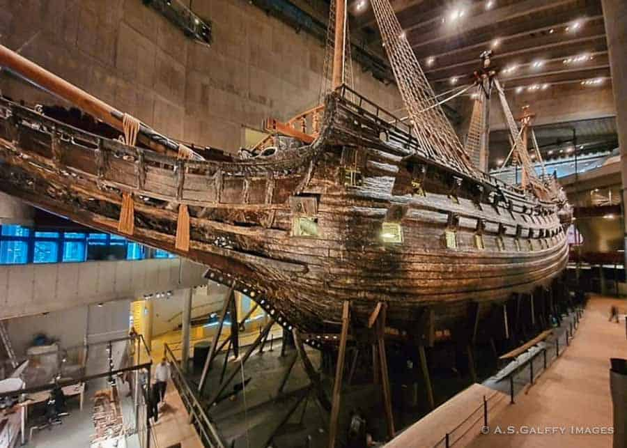 The Vasa ship in the museum