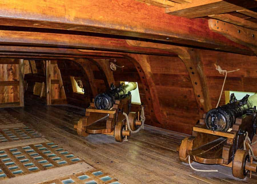 Cannons on the Vasa ship