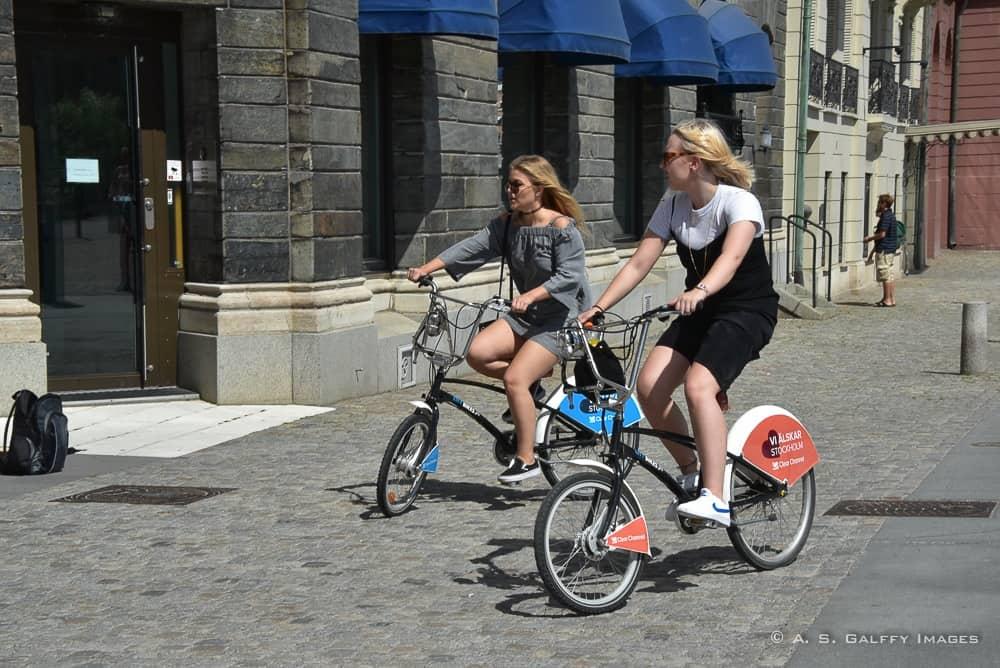 Visiting Stockholm on the bike