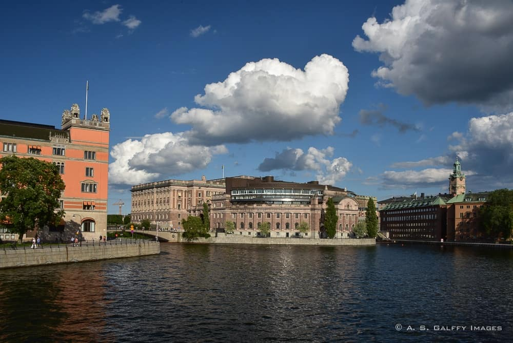 View of downtown Stockholm