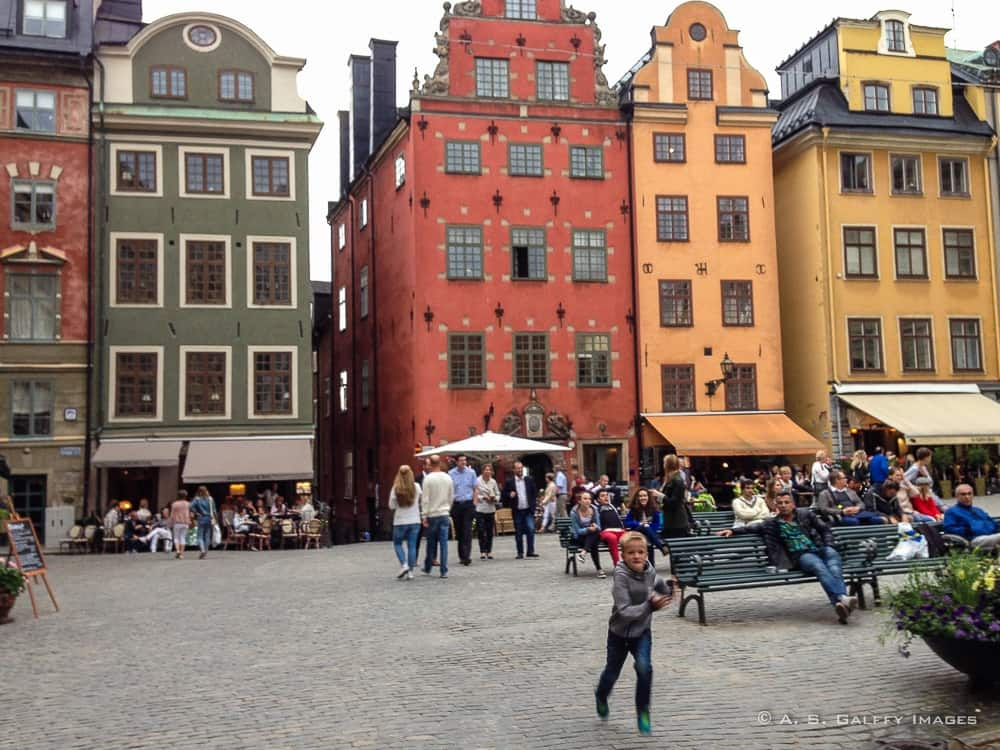 colorful buildings in Stortoget, the main square of Gamla Stan