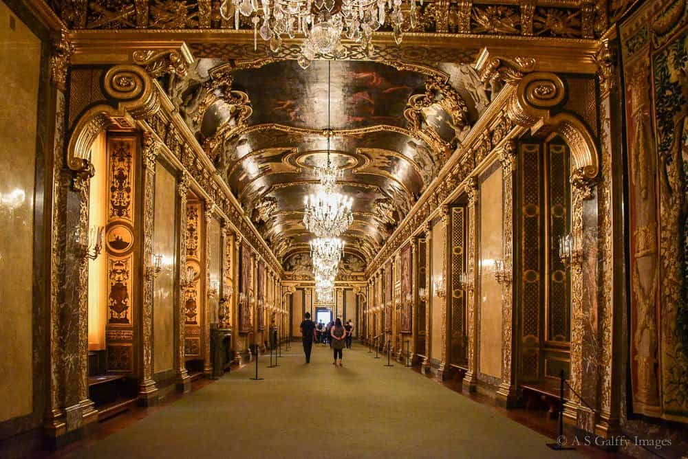 Grand Hall at the Royal Palace in Stockholm