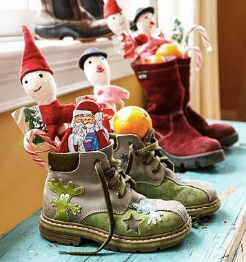 Boots left outside the door is one of the Christmas Traditions in Romania