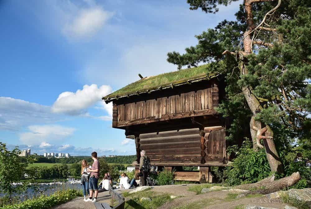 Inside Skansen open air museum