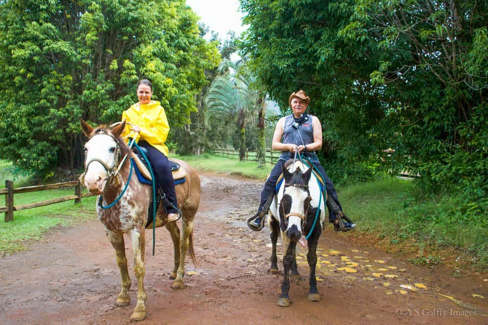 riding horses in Kauai