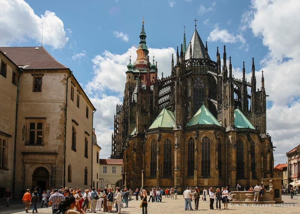 caption of St. Vitus Cathedral in Prague